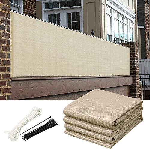WUZMING Balcon Brise-Vue Pare-brise La Protection De La Vie Privée Parasol Anti-UV Avec Trous Métalliques Pour Jardin Patio, 49 Tailles (Color : Beige, Size : 120x1000cm)