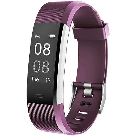 YAMAY Pulsera Actividad con Pulsómetro Mujer Hombre, Monitor de Actividad Deportiva, Ritmo Cardíaco, Impermeable IP67, Reloj Fitness, smartwatch con ...