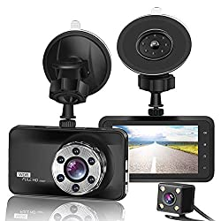 ORSKEY Front and Rear Dash Cam