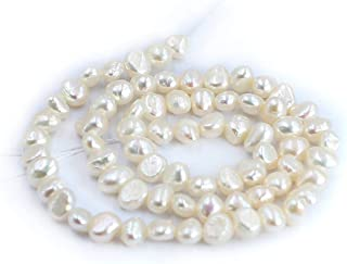 """Details about  /5-6mm BAROQUE Natural Freshwater Orange Pearl Loose Beads for Jewelry Making 14/"""""""