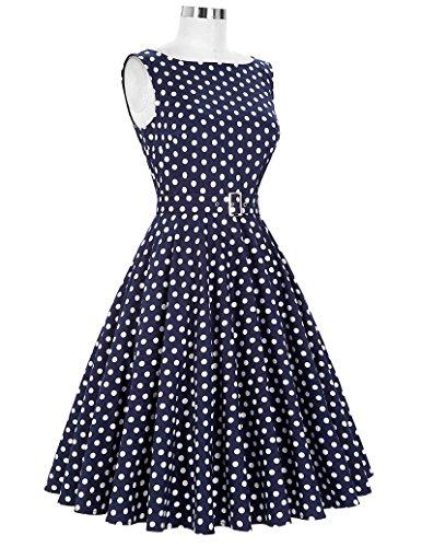 Damen Petticoat Kleider 50er Festliche Kleider Knielang XL BP002-33 - 4