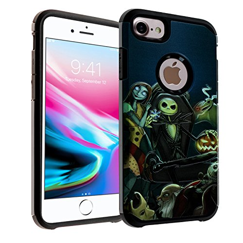 The Nightmare Before Christmas iPhone 6S Case, IMAGITOUCH 2-Piece Style Armor Case with Flexible Shock Absorption Case and The Nightmare Before Christmas Cover Case for iPhone 6S / 6 – Christmas