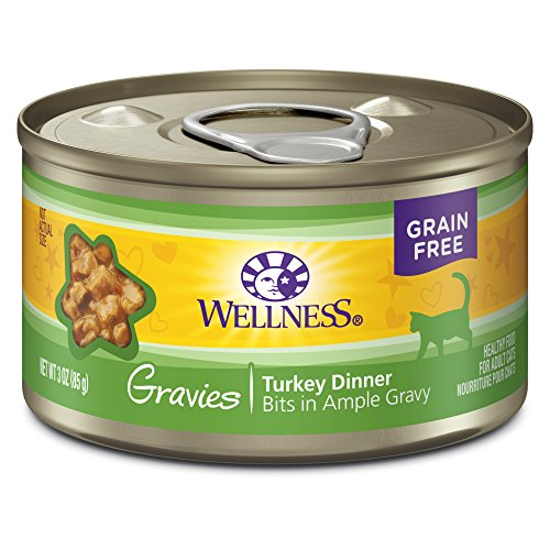 Wellness Complete Health Gravies Grain Free Canned Cat Food, Turkey Dinner, 3 Ounces (Pack of 12)