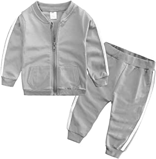 Fairy Baby Boy Girl Sport Clothes Set 2pc School Uniforms Cotton Outfit Tops and Pant Set