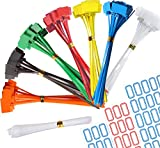 Nylon Marker Cable Ties, 140pcs 6 Inch Self-Locking Cord Tags Marker Label with Write on Cable Tag, Ethernet Wire Zip Ties Power Marking Label