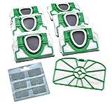 Juego ahorro de 6 bolsas de microfieltro para aspiradora, 1 filtro de...