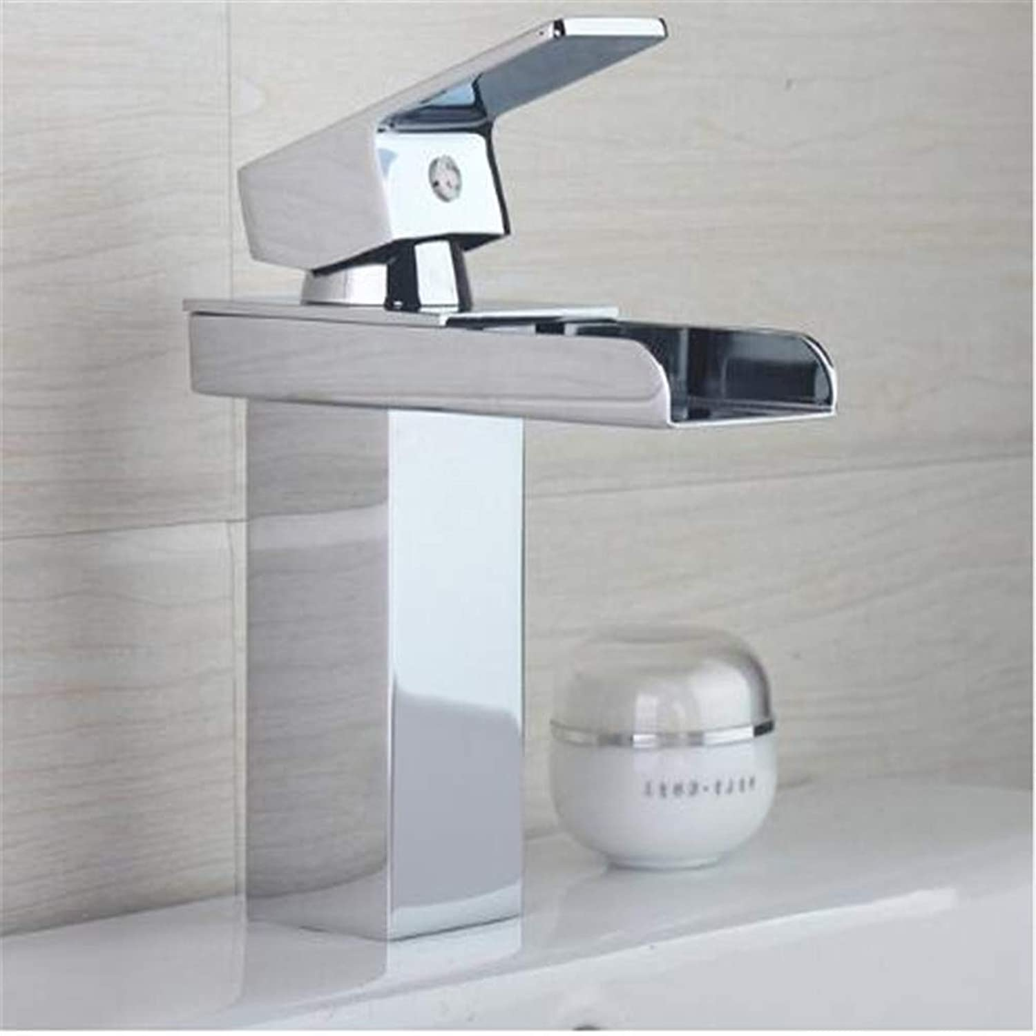 Bathroom Taps Basin Mixer Taps Bathroom Faucet Sink Tapsluxury Bathroom Faucets Waterfall Chrome Polish Basin Taps Hot and Cold Water Bathroom Sink Tap Mixer Faucet Torneira ( color   - , Size   - )