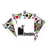 Zombie con la palabra Zombie Poker Jugando Magic Card Fun Juego de mesa
