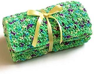 Small Green Crochet Baby Blanket
