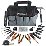 "VonHaus 92Pc <span class='highlight'>Hand</span> <span class='highlight'>Tool</span> Kit with 14"" Heavy Duty Storage Carry Bag Organiser – Ideal Household/Home DIY Repairs – Incl. Bits Driver Pliers Hammer Wrench Hex Keys - 35 x 21 x 26.5cm"