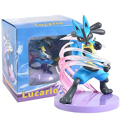 zzyou Lovely Pokemon Lucario Action Figures Toys 15Cm, PVC Collectors Model Figure Kids Gift