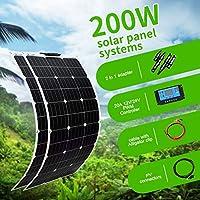 ソーラーパネル100W、200W、300W、12V、24VバッテリーヨットRV車のボートの充電器のためのセミフレキシブルな18Vパネル太陽光発電,200w