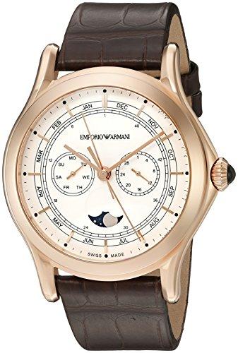 Emporio Armani - Reloj de Cuarzo de Cuero para Hombre ARS4202