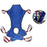 ZIHAOH Ganzkörper - Patientenlifter Sling Treppenrutsche Transfergurt, Mit Toilettenschlinge Design Mit Geteiltem Bein, Für Krankenpflege, ältere Menschen, Behinderte -