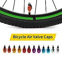 バルブキャップ 、Entweg 2個の自転車バルブキャップ空気バルブキャップタイヤバルブダストカバー MTBロードバイクオートバイ自転車アクセサリーのための