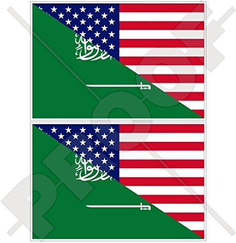 Lot de 2 autocollants en vinyle pour pare-chocs Motif drapeau américain 75 mm