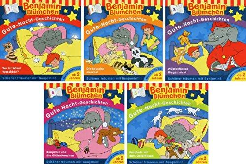 Benjamin Blümchen - Gute Nacht Geschichten - Hörspiel 1-5 im Set - Deutsche Originalware [5 CDs]