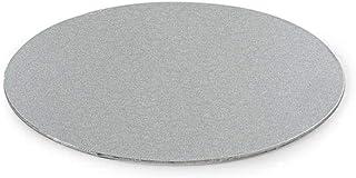 Decora 0931301 Support GÂTEAU Fin Argent Ø 18 CM H 3 MM 7', Paper, Silver, 18 x 18 x 0,3 cm