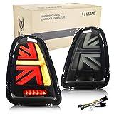 VLAND LED Fanale posteriore compatibile per Mini Cooper R56 R57 R58 R59 2007-2013 Luci posteriori,Coppia (lato guidatore e passeggero) (Affumicato)