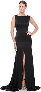 Leola Black Silk Casual Dress For Girls; Size S
