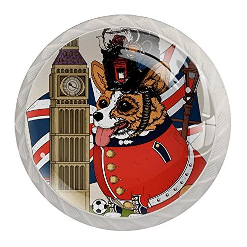 Gran Bretagna Big Ben Dog Cabinet tira e manopole manopole per armadi da cucina 4,5 cm maniglie per cassetti per casa, ufficio, camera da letto, soggiorno, bagno, con viti