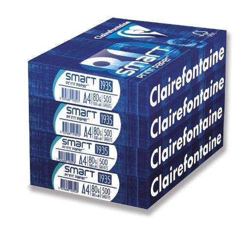 Clairefontaine RDC3004SC Packung mit 4 Ries Premium Multifunktionspapier, DIN A4, 500 Blatt, 1 Pack, Weiß