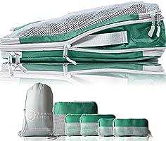 TRAVEL DUDE Organizer Valigie | Cubi con Compressione | Set da Viaggio per zaini o bagagli a mano | Organizer Valigia...