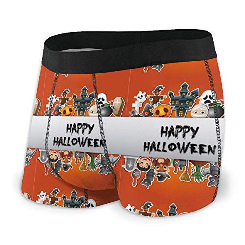 GLGFashion Men's Breathable Underwear Happy Halloween Poster Card Celebrations Comfortable Boxer Briefs Herren-Boxershorts