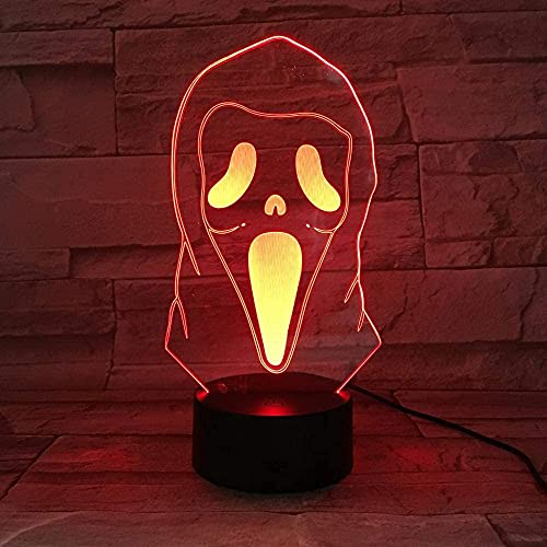 3D-illusionslampa LED nattlampa halloween spöke humör belysning bordslampa pojke flicka barn gåva sovrum kontor dekoration