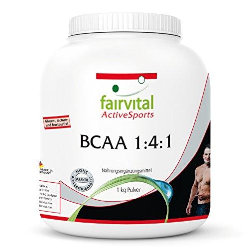 BCAA en Polvo 1:4:1 - Aminoácidos ramificados - Suplemento VEGANO y sin aditivos -...