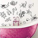 Animal marino acuario burbuja vinilo arte mural pegatina sala de estar dormitorio niños habitación pared calcomanía decoración