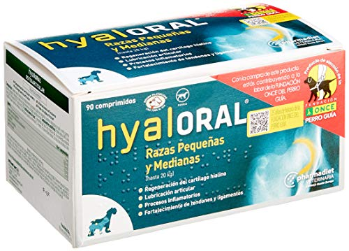 Farmadiet Hyaloral Razas Pequenas y Medias Blísters con 90 Comprimidos