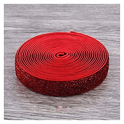 HLWJ 15mm Sewn Elastic Rubber Band Ribbon 20-Color Ribbon Girls Hair Accessories Clothing Accessories (Color : Red) by HLWJ