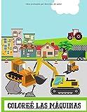 Coloreé las máquinas: Libro de dibujo para niños - descub