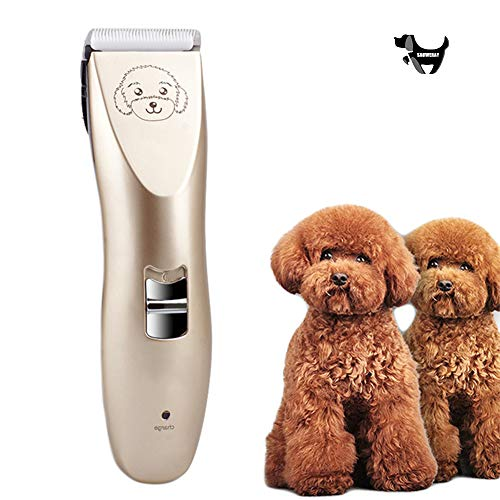 SAUWERAY Pet Electric Clipper Silent Shaver, 3.7V High Power Washable Ceramic Blade, The Best Hair Clipper for Pet Cats and Dogs