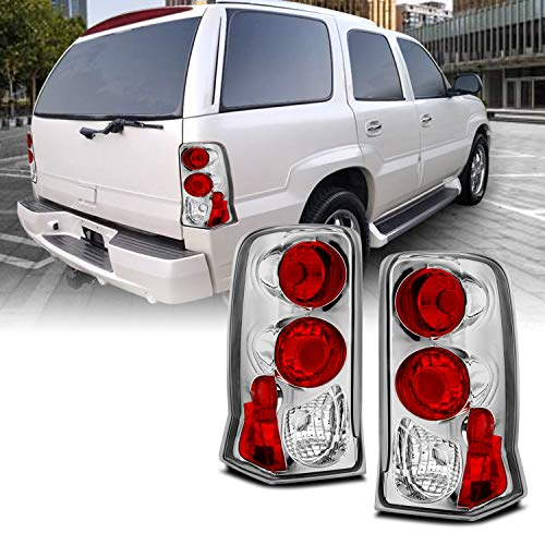 AmeriLite Chrome Replacement Brake Tail Lights for 02-06 Cadillac Escalade - Passenger and Driver Side