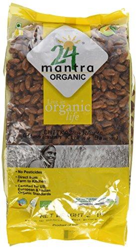Organic Himalayan Rajma Chitbakra Red Kidney Beans - Usda Certified Organic - European Union Certified Organic - Pesticides Free - Adulteration Free - Sodium Free - 2 Lbs - 24 Mantra Organic