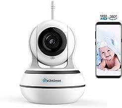 [October New] WiFi Camera eLinkSmart 1920x1080 Home Security PTZ IP Camera Card or Cloud Recording Night Vision 2-Way Audio Motion Detection, Alexa