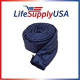 LifeSupplyUSA 35 Ft Quilted Padded Central Vacuum Hose Cover with Zipper