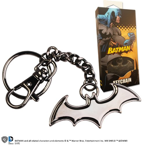 Porte-clés en Forme de Logo Batman de la Collection Noble DC (Noir)