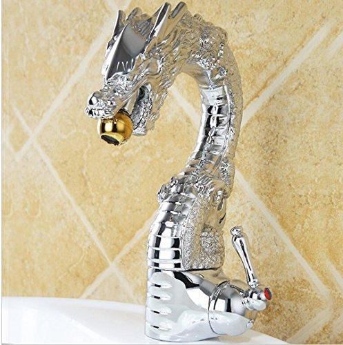 Gowe Luxe Laiton Dragon Mitigeur, finition en chrome, Mélangeur