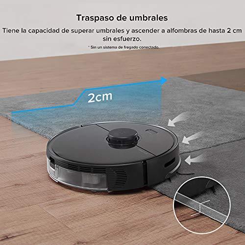 roborock S5 Max Aspirapolvere Automatico Robot e Detergente per Pavimenti,Mop Scrub Smart Navigation Sweep,2000 Pa Aspirazione Molto Potente con Funzione WiFi,Vuoto con Controllo App (Nero)