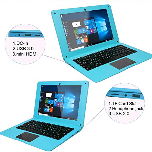 Product Image 1: Tocosy Laptop 10.1Inch Quad Core Windows 10 HD Graphics Ultra Thin Computer PC, 2GB RAM 32GB Storage 1.92GHZ USB 2.0 WiFi Bluetooth HDMI IPS Display Notebook