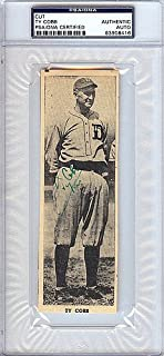 Ty Cobb Signed 2x6 Newspaper Page Photo Detroit Tigers - PSA/DNA Authentication - Autographed MLB Photos