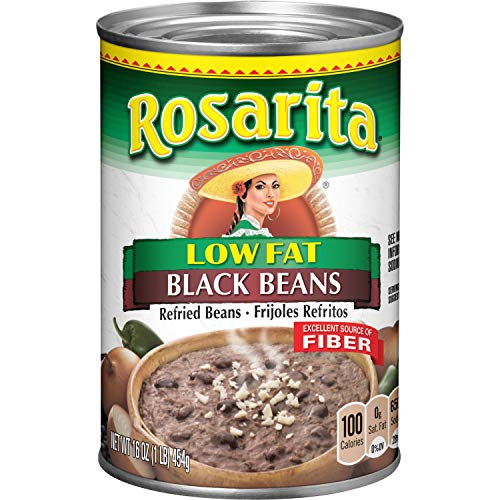 Rosarita Low Fat Refried Black Beans, 1 Pound (Pack of 12)