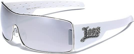 Locs Metal Rim Frame Original Gangsta Shades Men's Hardcore Shield Sunglasses