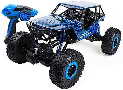 1/10 Escala 2.4GHz Control remoto Coche 360 ° Rotación RC Crawnler Coches recargables 4WD Alta velocidad All Terreno Monster Truck Toy Toy Coche para todos los adultos Niños ( Color : Blue )