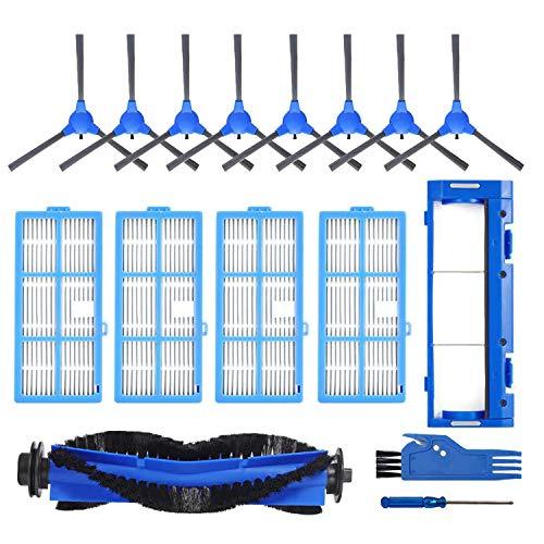 LesinVac Replacement Parts Kit for Coredy R3500 R3500S, R550(R500+) R650 R600 R700 R750 Goovi 1600PA D380 D382, iMartine C800,D900,D900C, DeenKee DK600, Bagotte BG600 Robot Vacuum Include Set(1+4+8+1)