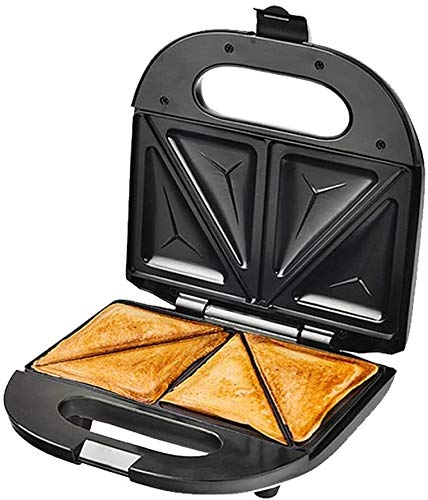 Bxiaoyan Sandwich Grill Waffle Maker Antiadherente Tostadora Panini Press 750w Acero Inoxidable Toastie Maker Máquina para Hacer Helados