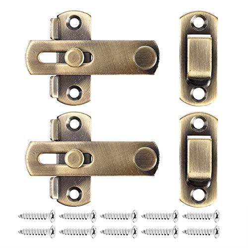 2 UNIDS Cerradura de puerta corredera con cierre de hebilla, pestillo de la Cerradura de la Puerta de Seguridad para la Puerta del Hardware de los Muebles de Ventana